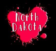 North Dakota Splash Heart North Dakota by Greenbaby