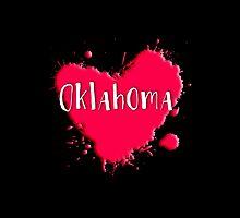 Oklahoma Splash Heart Oklahoma by Greenbaby