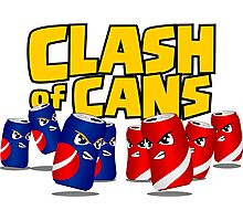 Clash of Cans Photographic Print
