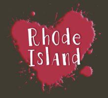 Rhode Island Splash Heart Rhode Island by Greenbaby
