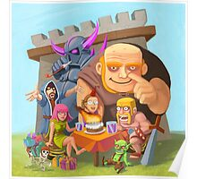 Clash of Clans Beautiful Art Poster
