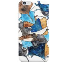Space Manta Rays iPhone Case/Skin