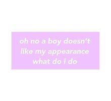 Oh No A Boy Doesn't Like My Appearance by saoirse-designs