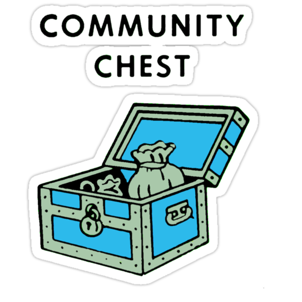 "Community Chest"" Stickers by Spikerama 