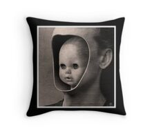 CREEPY DOLL Throw Pillow