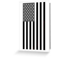 Greyscale American Flag  Greeting Card