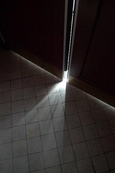 light leaks through the door by ragman