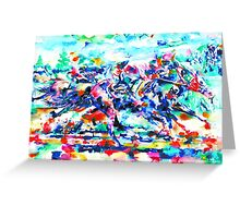 DERBY RACE Greeting Card