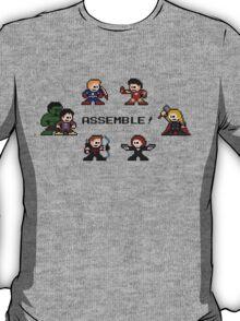 8-bit Avengers Assemble! T-Shirt