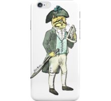 Captain Cat with a a Sextant iPhone Case/Skin