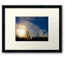 Sundog At Sunset Framed Print