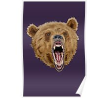 Grizzly Bear (Purple) Poster