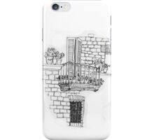 Italy- A window below the balcony in Assisi iPhone Case/Skin