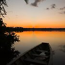sunset on Lake Sandoval, Madre de Dios, Peru by juan jose Gabaldon