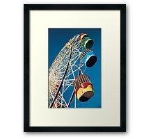 Luna Park Wheel Framed Print