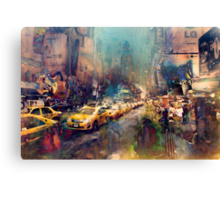 Caught up in TImes Square Canvas Print