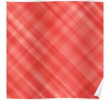 Red Diagonal Lines Abstract Pattern Poster