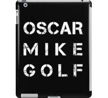 NATO Phonetic Alphabet - OMG - Oscar Mike Golf iPad Case/Skin
