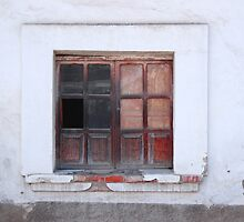 Broken Window in a Wall by rhamm