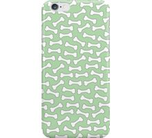 Dogs Love Bones (green) iPhone Case/Skin