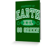 EARTH DAY, GO GREEN Greeting Card