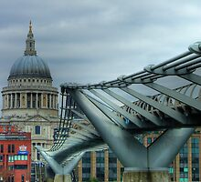 The Millennium Bridge by Colin J Williams Photography