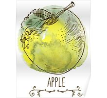 fresh useful eco-friendly apple Poster
