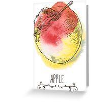 fresh useful eco-friendly apple Greeting Card