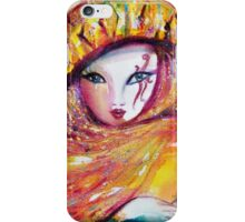 CARNIVAL MASK IN YELLOW / Venetian Masquerade iPhone Case/Skin