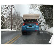 Driving to Watch Hill in the Snow Poster