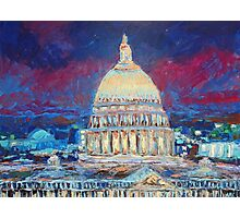 The Hill at Night Photographic Print