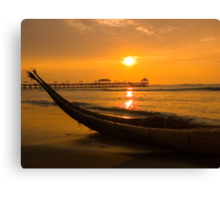 Sunset, Huanchaco, Trujillo, Peru Canvas Print