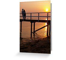 Sunset on sand Greeting Card