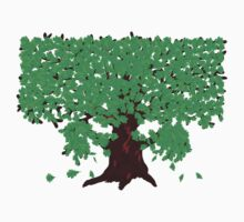 Oak with green leaves T-Shirt