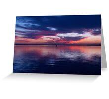 Mirror Blue Greeting Card