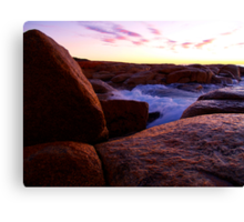 Water on Rock Canvas Print