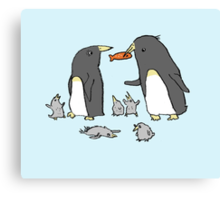 Penguin Family Canvas Print