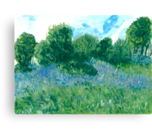Bluebells oil painting on paper Canvas Print