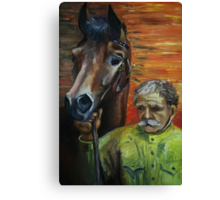 The man and the horse Canvas Print