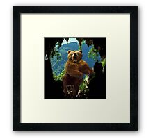 Oops! Wrong Cave Framed Print