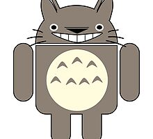 Android Totoro - Grinning by lorikitty