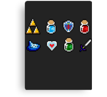 Zelda Items Canvas Print