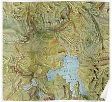 Antique Yellowstone Map Poster