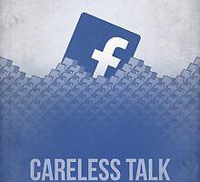 Facebook Propaganda Poster by TheBlueOwl