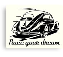 VW Beetle - Race your Dream Canvas Print