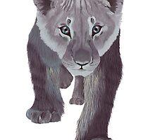Baby Grey Lion by PSBayo