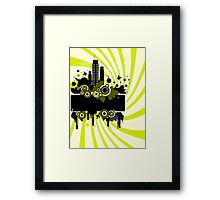 Grunge summers background Framed Print
