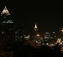 Atlanta Skyline At Night by Jeffrey Sanders