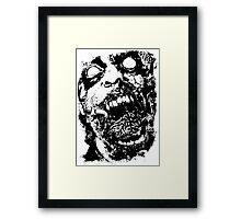 Undead Zombie Illustration Framed Print