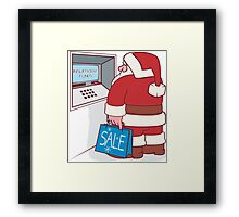Feeling the Festive Pinch Framed Print